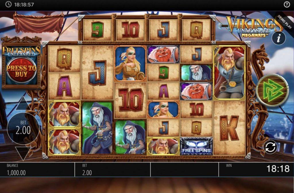 Vikings Unleashed Megaways-เกม